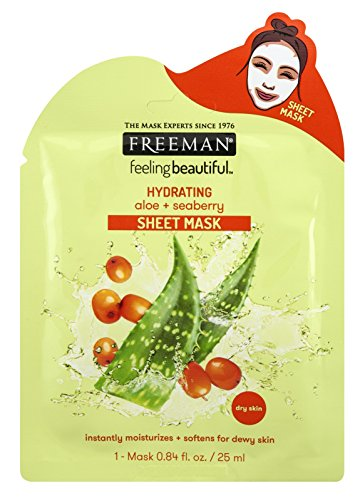 Freeman Facial Aloe+Seaberry Hydrating Sheet Mask (6 Pieces)