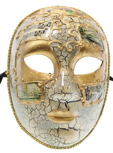 RedSkyTrader Mens Full Face Carnival Mask One Size Fits Most -