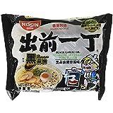 Nissin Ramen Noodle Instant Noodles With Soup Base 12 Pack (Black Garlic Oil Tonkotsu Pork)