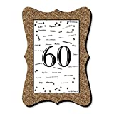 Big Dot of Happiness Adult 60th Birthday - Gold - Unique Alternative Guest Book - Birthday Party Signature Mat