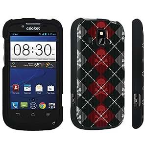 DuroCase ? ZTE Overture Z995 Hard Case Black - (Skull Argyle Red) by icecream design