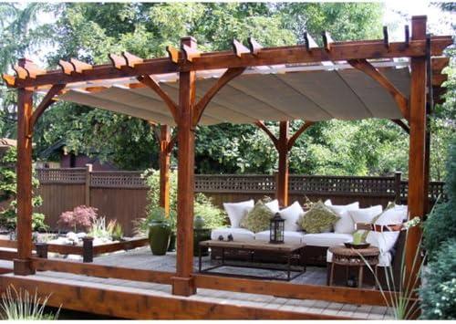 Outdoor Living Today Breeze 16 Ft W X 12 Ft D Cedar Pergola Garden Outdoor
