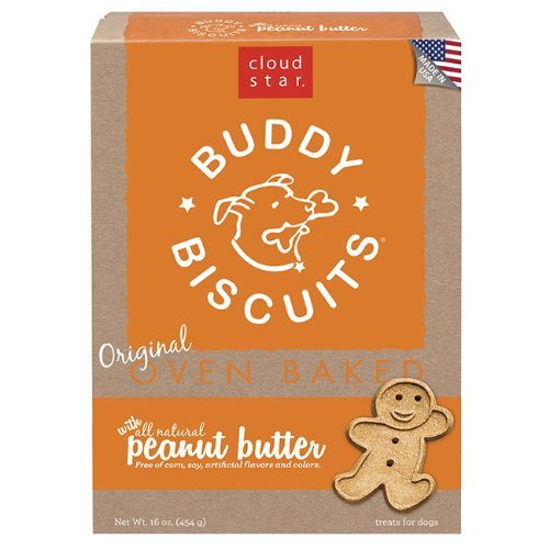 Madness Buddy Butter Peanut (Cloud Star Buddy Biscuits Dog Treats, Peanut Butter Madness, 16-Ounce Boxes by Cloud Star)
