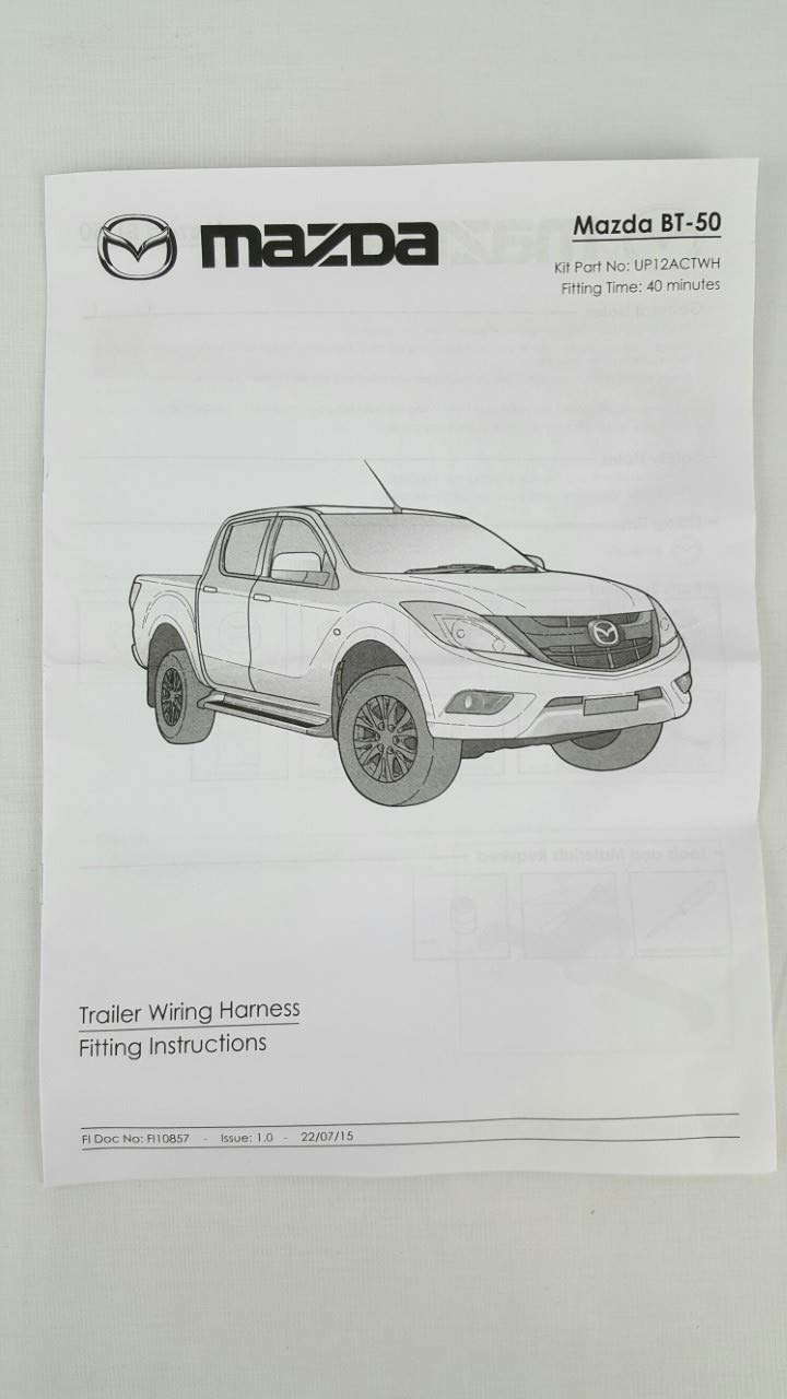 Pleasant Genuine Mazda Bt 50 Up Ur Towbar Trailer Wiring Harness Bt50 Ute Wiring Database Denligelartorg