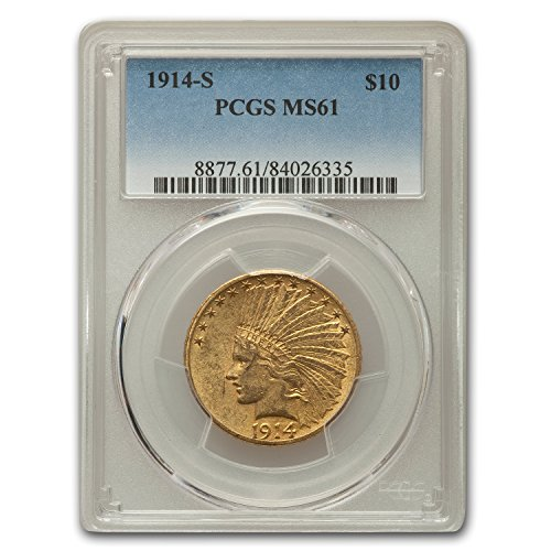 1914 S $10 Indian Gold Eagle MS-61 PCGS G$10 MS-61 PCGS