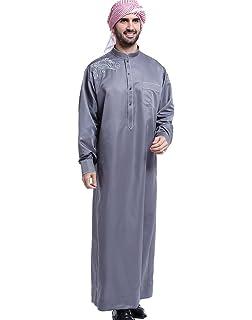 f3d47545 Amazon.com: Hussn Mens Thobe/Kaftan Kamani-Islamic Clothing Jubba ...