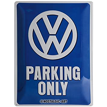 Nostalgic-Art Cartel de Chapa 15x20 -VW Parking Only
