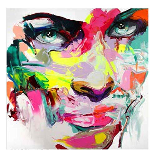 GMYANZSH 5D DIY Diamond Painting Cross Stitch Handcraft Mosaic Kit Color Pretty Lady Face Beaded Embroidery Beauty Crafts Art]()