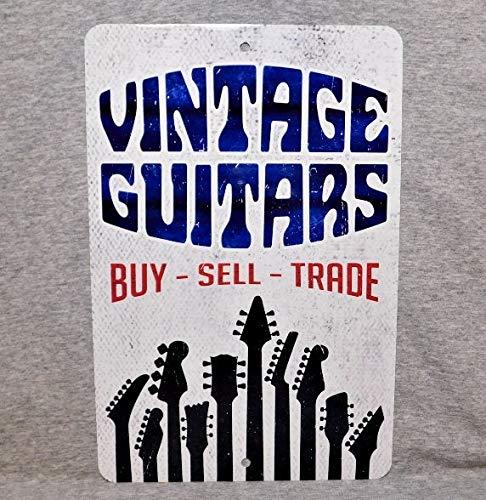 Cartel de Metal Vintage Guitars Tienda Show coleccionista ...