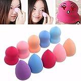 A-store 10pcs Pro Beauty Flawless Makeup Blender Foundation Puff Multi Shape Sponges