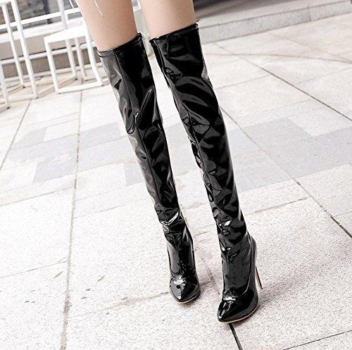Donna Boots Affascinante Nero Stivali MissSaSa dUwYqd