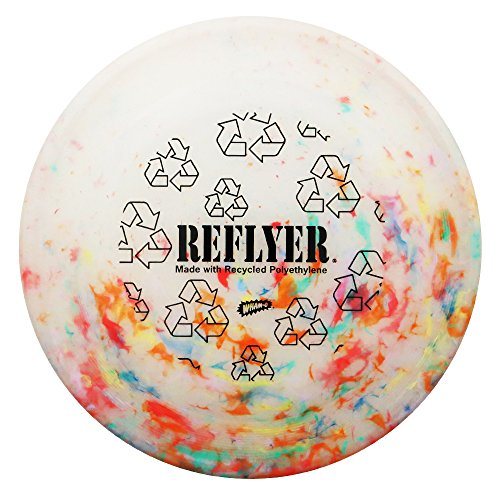 Whamo Chomper Fastback Recycled Reflyer 110g Dog and Sport Flying Disc [Colors May Vary] (Recycled Frisbee)