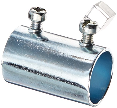 (Hubbell-Raco 2023CP Coupling, Set-Screw, 3/4-Inch Trade Size, EMT, Steel, Uninsulated, Pack of 25 )