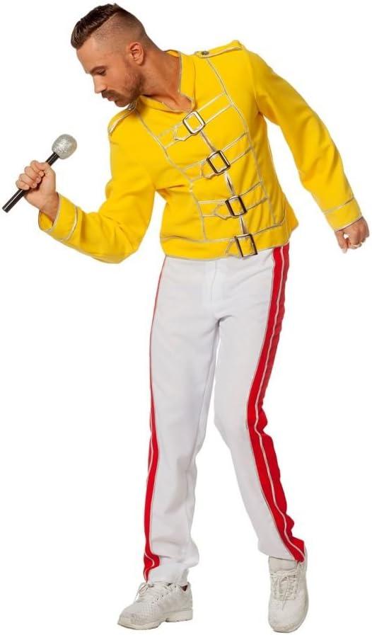 Wilbers Disfraz de Freddie Mercury Amarillo para Hombre: Amazon.es ...