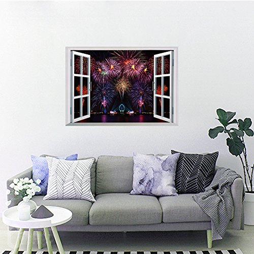 IndButy Wall Stickers Fireworks bedroom decoration wall sticker 50×70cm
