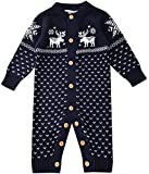 ZOEREA Unisex Newborn Baby Romper Long Sleeve Christmas Sweaters Coat Deer