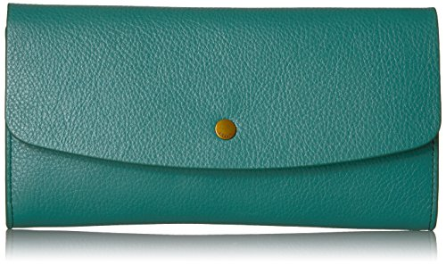Haven Large Flap Wallet Wallet, Teal Green, One Size by Fossil