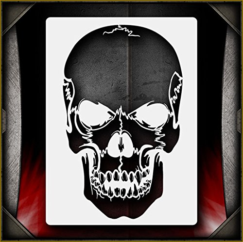 - Evil Skull 25 AirSick Airbrush Stencil Art Design Template - Reusable Multi-Layer Painting Patterns for Cars, Motorcycle, Tatoos, Walls, Cakes, T-Shirts, Hair, Scrapbooks Etc
