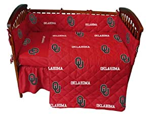 College Covers Oklahoma Sooners Baby Crib Fitted Sheet Pair - White (Includes 2 Fitted sheets)