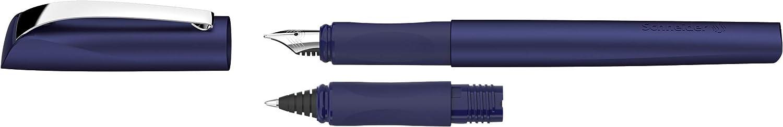 pacific blue Tintenroller Rechts- und Linksh/änder, M-Feder, inkl. Tintenpatronen k/önigsblau Tintenkiller Schneider Ceod Shiny Schreibset mit F/üller
