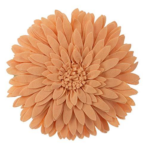 Fennco Styles 3D Sunflower Decorative Throw Pillow 13'' Round (Peach, Case+Insert) by Fennco Styles