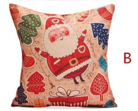 Amazon.com: Navidad Papá Noel lino y algodón funda de ...