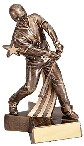 Decade Awards Baseball Gold Star Resin Trophy - Male | MVP Award | 6.5 Inch Tall - Customize Now