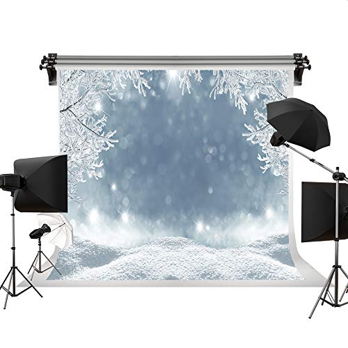Kate 7x5ft/2.2x1.5m Holiday Christmas Background Photography Winter Snow Scenery Seamless Cotton Backdrops Photography Studio -