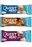 Quest Nutrition Hero Protein Bar Variety Pack | Caramel, Blueberry, Vanilla | Pack of 12 |