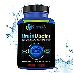 Brain Booster, Nootropic, Focus Energy & Brain Supplement, Maximum Strength Brain & Memory Booster To Optimize Brain Function - Increase Clarity & Energy, Mood Enhancer, Supplement W Dmae, Gluten Free