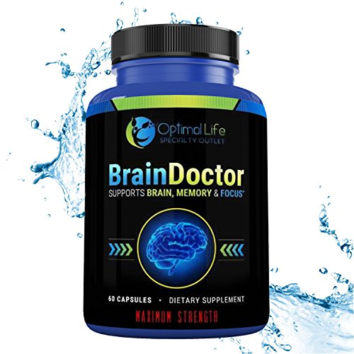 Brain Booster, Brain, Focus & Amino Energy Supplement, Maximum Strength Brain & Memory Booster to Optimize Brain Function - Increase Clarity & Energy, Mood Enhancer, Nootropic w DMAE, Gluten - Brain Booster