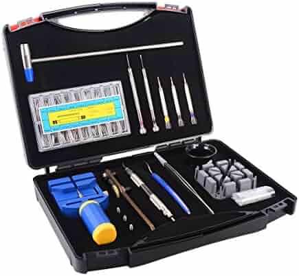 Ohuhu 175 PCS Watch Repair Tool Kit Case, Professional Spring Bar Tool Set, Watch Band Link Pin Tools