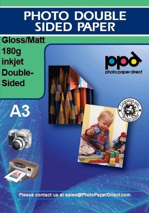 PPD Inkjet Glossy/Matte Double Sided Photo Paper A3 (11.7X16.5