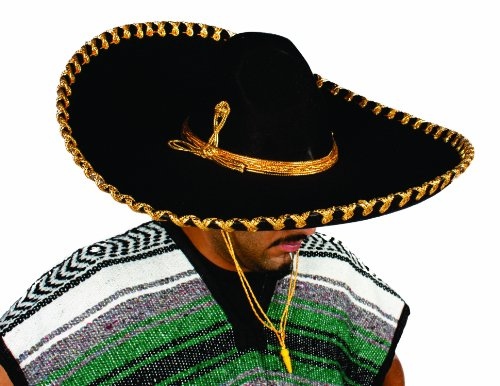 Alexanders Costume Mariachi Hat, Gold, One Size