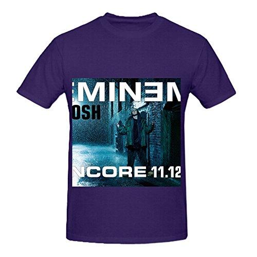 Eminem Mosh (edited Version) 80s Men O Neck Custom Shirts Purple (Wii Version Guitar)