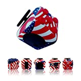 Sanema Fidget Cube, Toys for Adults and Children, Fidget Cubes Relieves Stress and Anxiety, Autism, Adhd/Add, Silicone, Focus Toy American Flag