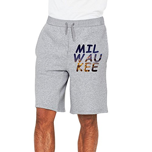 Price comparison product image PLBFUY Milwaukee City Men's SweatShorts Pants Lycra With Pockets Ash