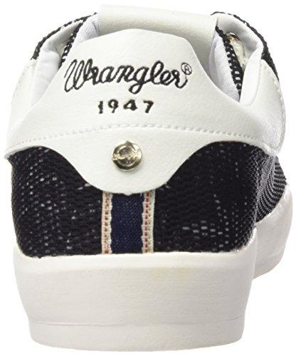 Wrangler Damen Wave Low Flower Sneakers Schwarz (357  Black / Tropical)
