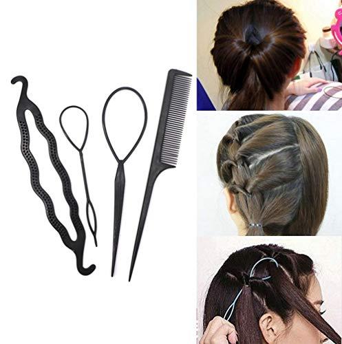 Euone  Hair Tie Clearance , 4Pcs/Set Hair Twist Styling Clip Stick Bun Maker Braid Tool Hair Accessories]()
