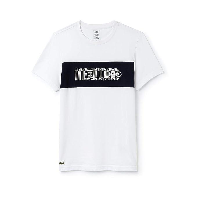 Lacoste Camiseta Sport Mexico Heritage 1968 Marino: Amazon.es: Ropa y accesorios