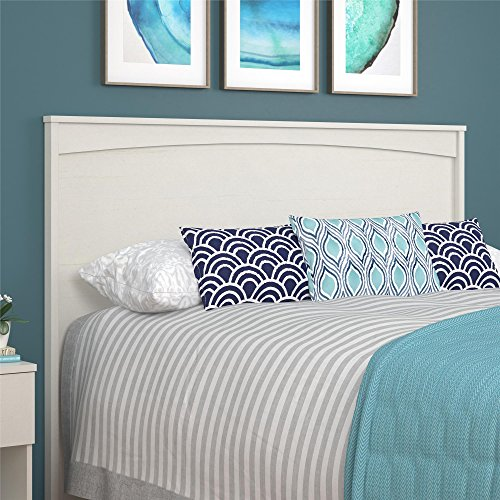 (Ameriwood Home Crescent Pt. Size Headboard, Queen, Ivory)
