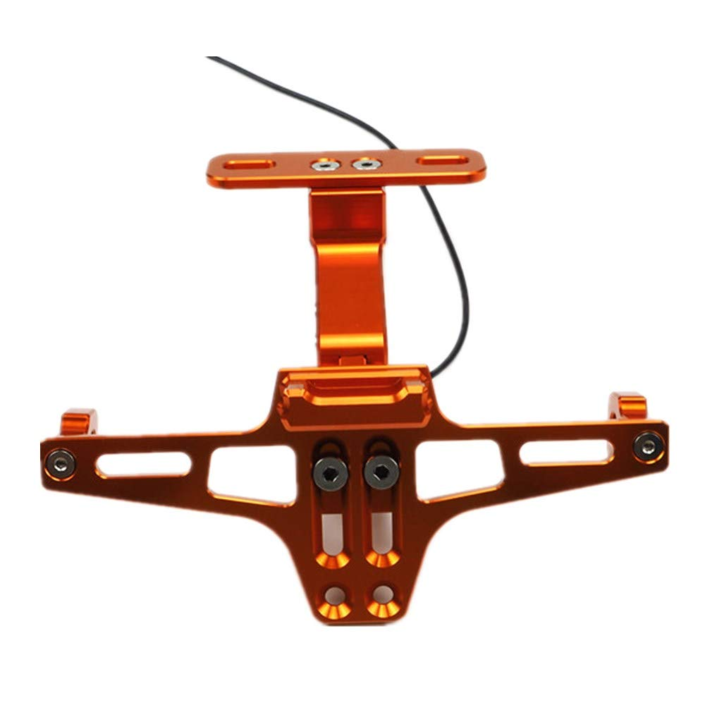 RENNICOCO Kennzeichenhalter Heck Ordentlich Kennzeichenhalter Halterung Motorrad Kennzeichenhalter Halterung Aufh/änger Kennzeichenhalter mit LED Kennzeichenbeleuchtung