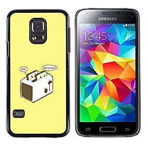 Stuss Case / Funda Carcasa protectora - Worried Toast - Funny - Samsung Galaxy S5 Mini, SM-G800