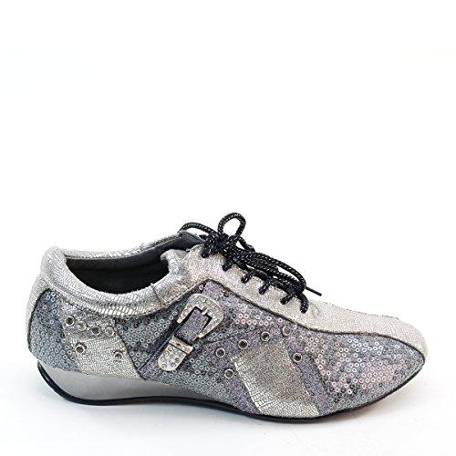 Nieuwe Brieten Vrouwen Pailletten Lace-up Mode Sneakers Van Tin