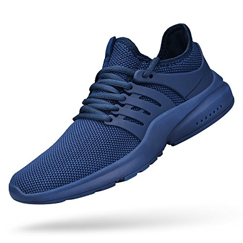 ZOCAVIA Mens Gym Shoes Comfortable Athletic Weightlifting Lightweight Sneakers Basketball Shoes Blue 13 D(M) US