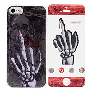 Skull Bone Pattern While Calling Or Called Lightning Flash Led Case for iPhone 5/5S