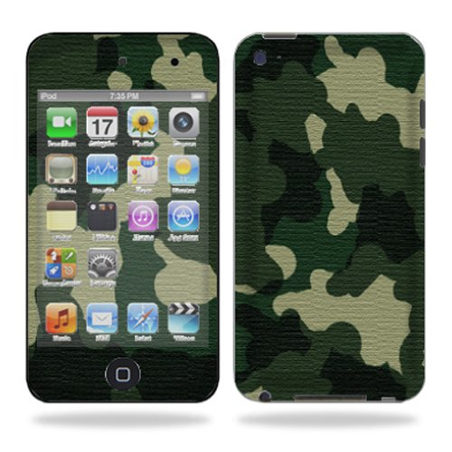 Mightyskins Protective Vinyl Skin Decal Cover for iPod Touch 4G 4th Generation wrap sticker skins � Green Camo2
