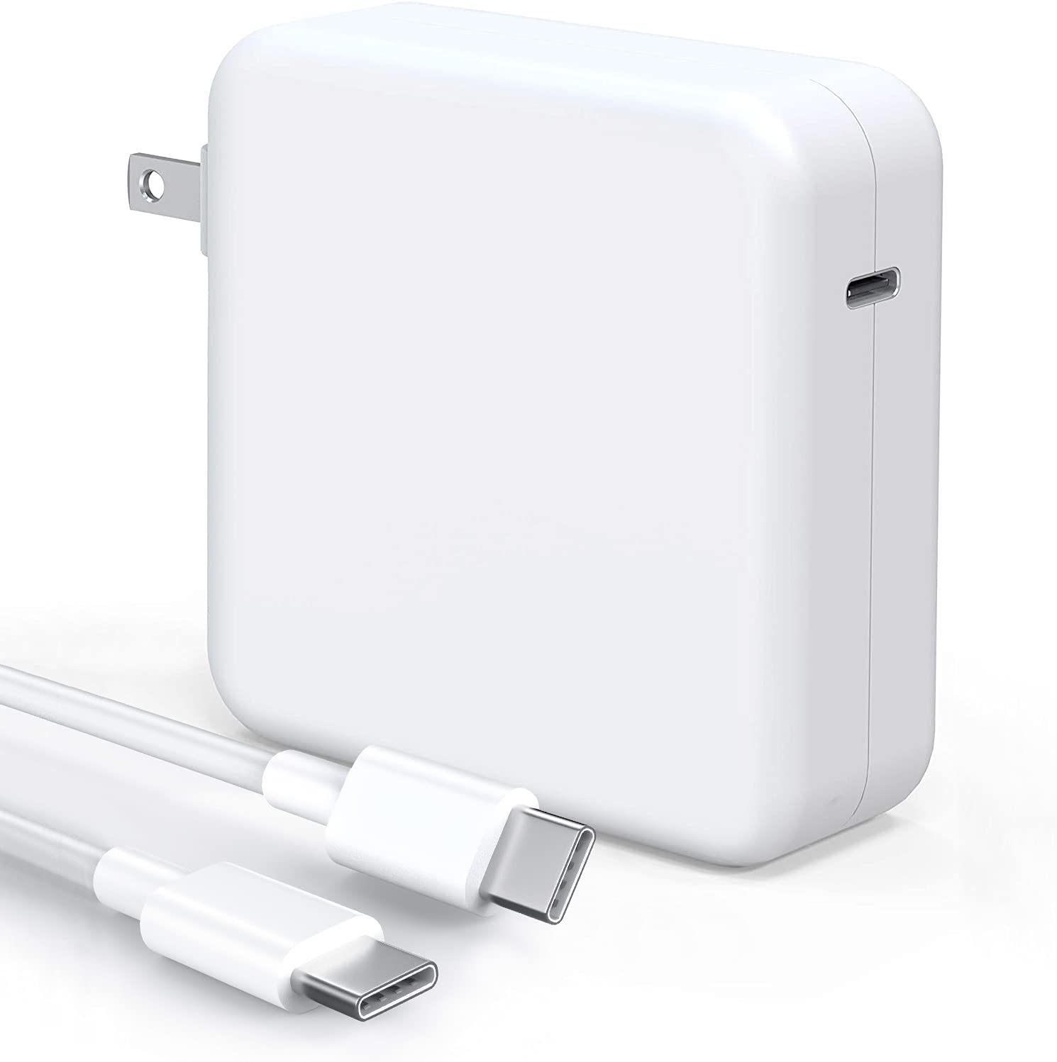 Mac Book Pro Charger - 100W USB C Charger Power Adapter Compatible with MacBook Pro 16, 15, 13 Inch, MacBook Air 13 Inch, iPad Pro 2020/2019/2018, Included 7.2ft USB C to C Cable
