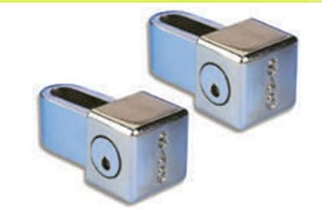 ECOSPAIN Juego de 2 Cerradura de Seguridad Sag Modelo CPT 60, 2 .Cerradura para