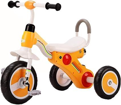 Triciclo Bebe,Coche Triciclo Niño Bicicleta Ligero con Musica Ruedas Gomas Conducción Silenciosa Niños de 6 Meses a 5 Años Máx 30 kg, Yellow: Amazon.es: Deportes y aire libre